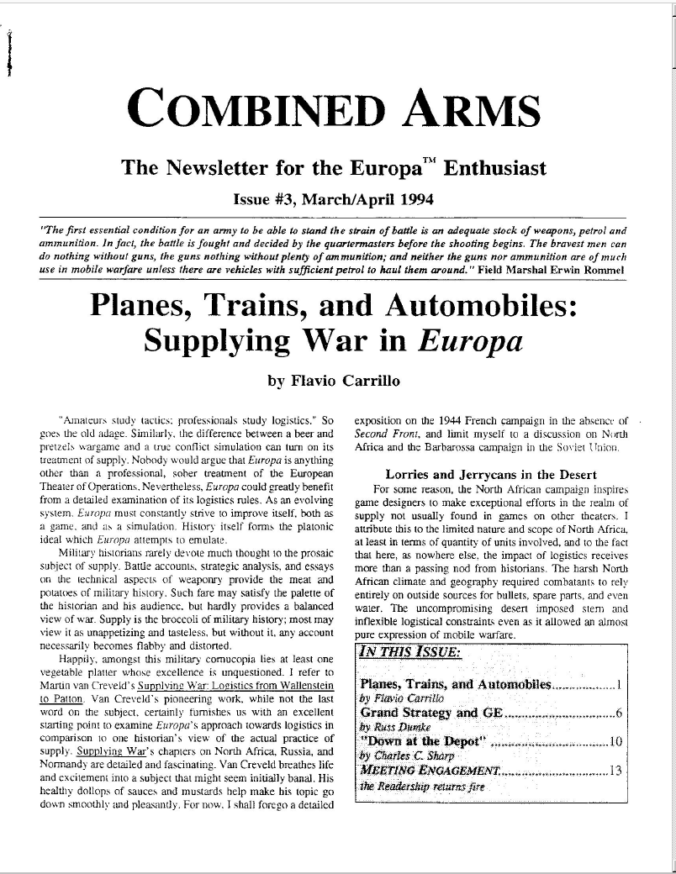 Combined Arms # 3 - Cover
