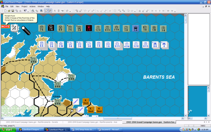 Screenshot of Scorched Earth Setup with Cyberboard