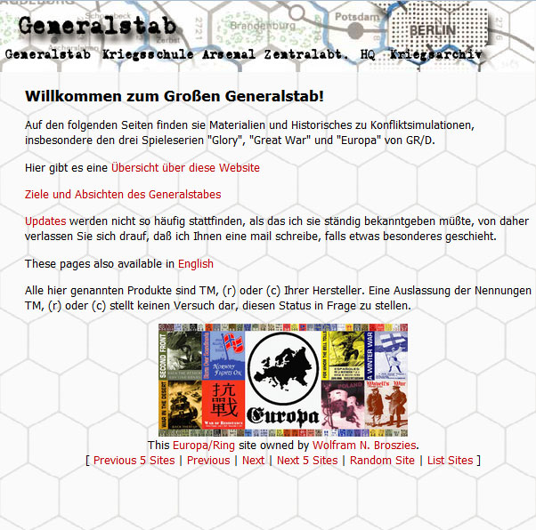 Screenshot of generalstab.org August 16h, 2000
