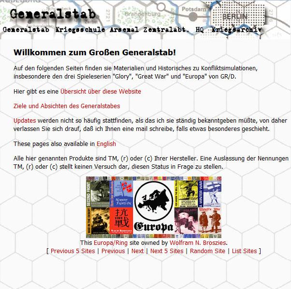 Screenshot of generalstab.org August 16h, 2000