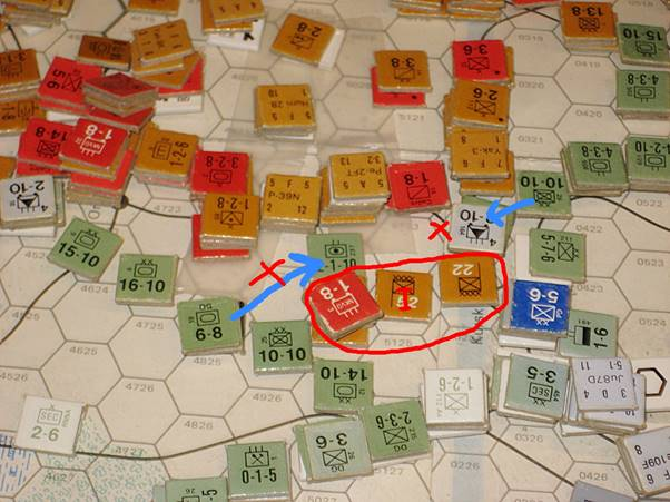 German Panzerkorps stall the Soviet advance south of Kursk