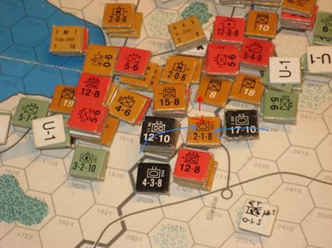 Axis counterattack Soviet thrust to Siaulilai