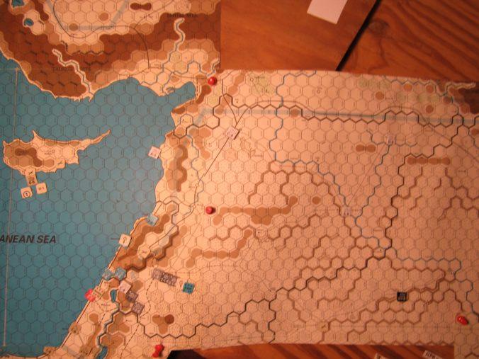 ME/ER-II Scenario: Mar II 41 At-Start Set-Up; Palestine and Syria; Al Faswi unit shown