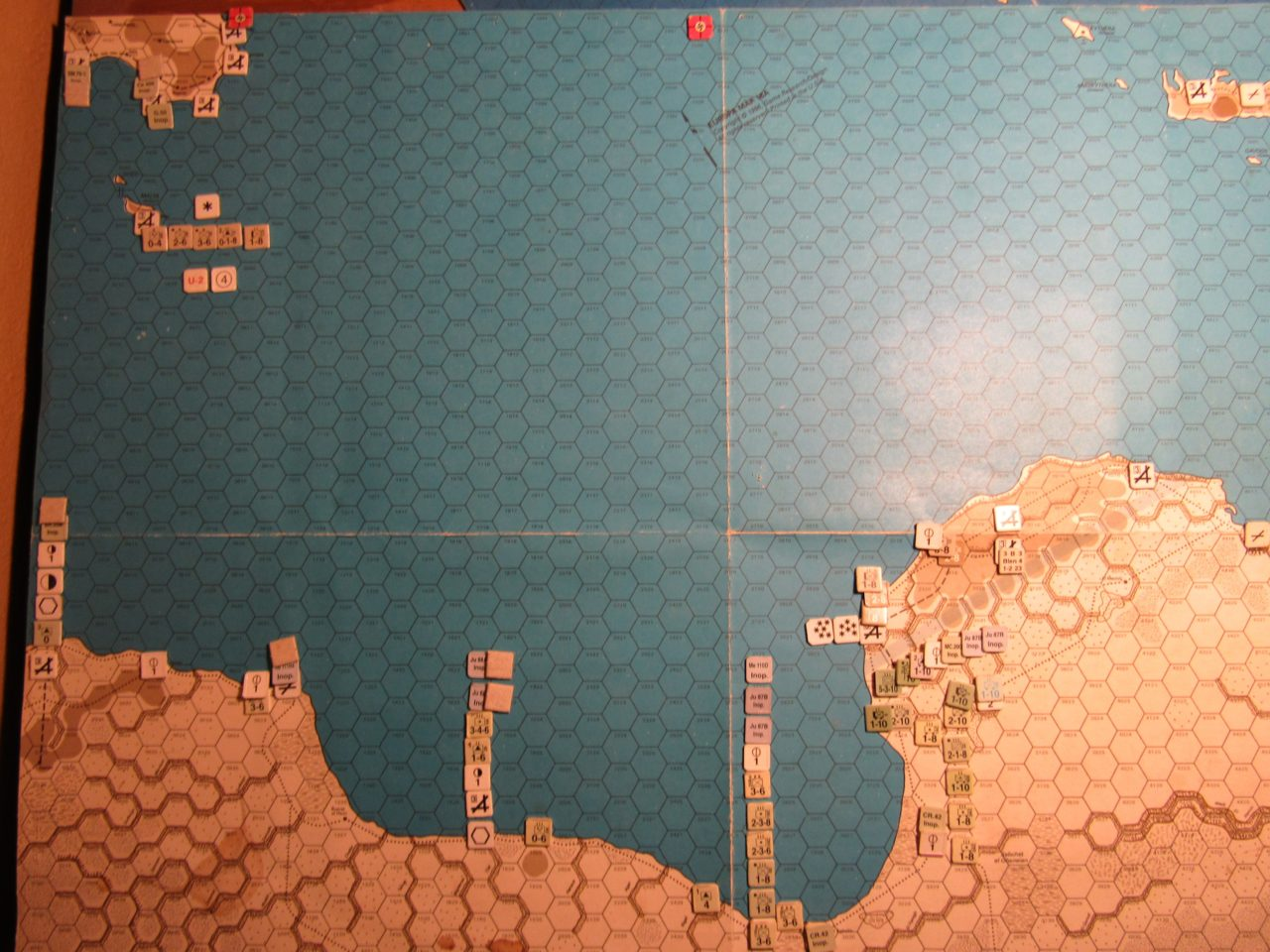 ME/ER-II Scenario: Mar II 41 Axis EOT dispositions; grey mkrs cover Malta Status attackers