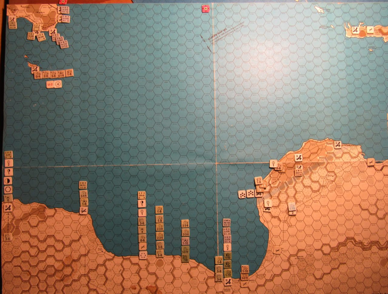 ME/ER-II Scenario: Mar II 41 At-Start dispositions; Libya, Malta, and Sicily