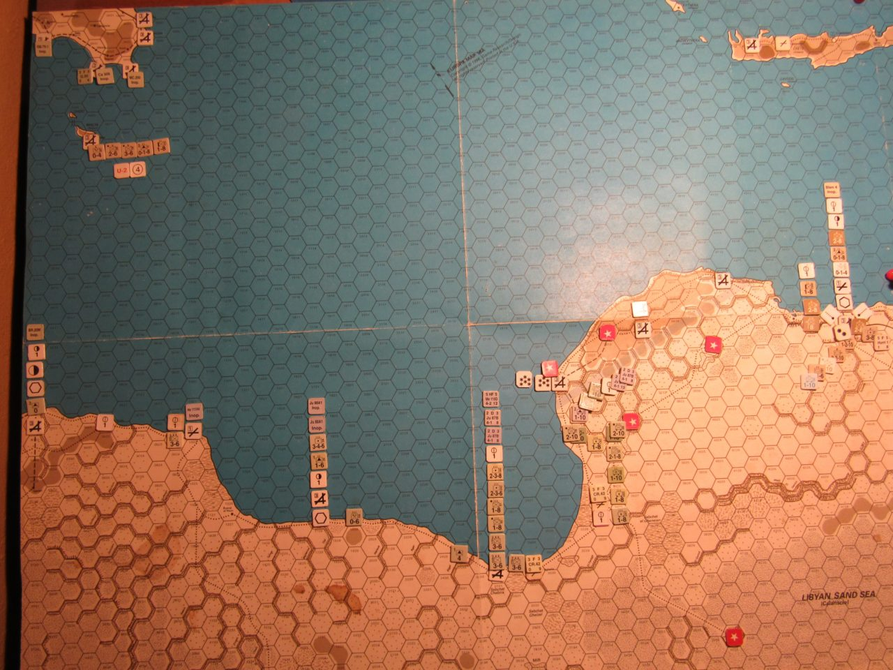 ME/ER-II Scenario: Apr I 41 Allied EOT; Axis dispositions