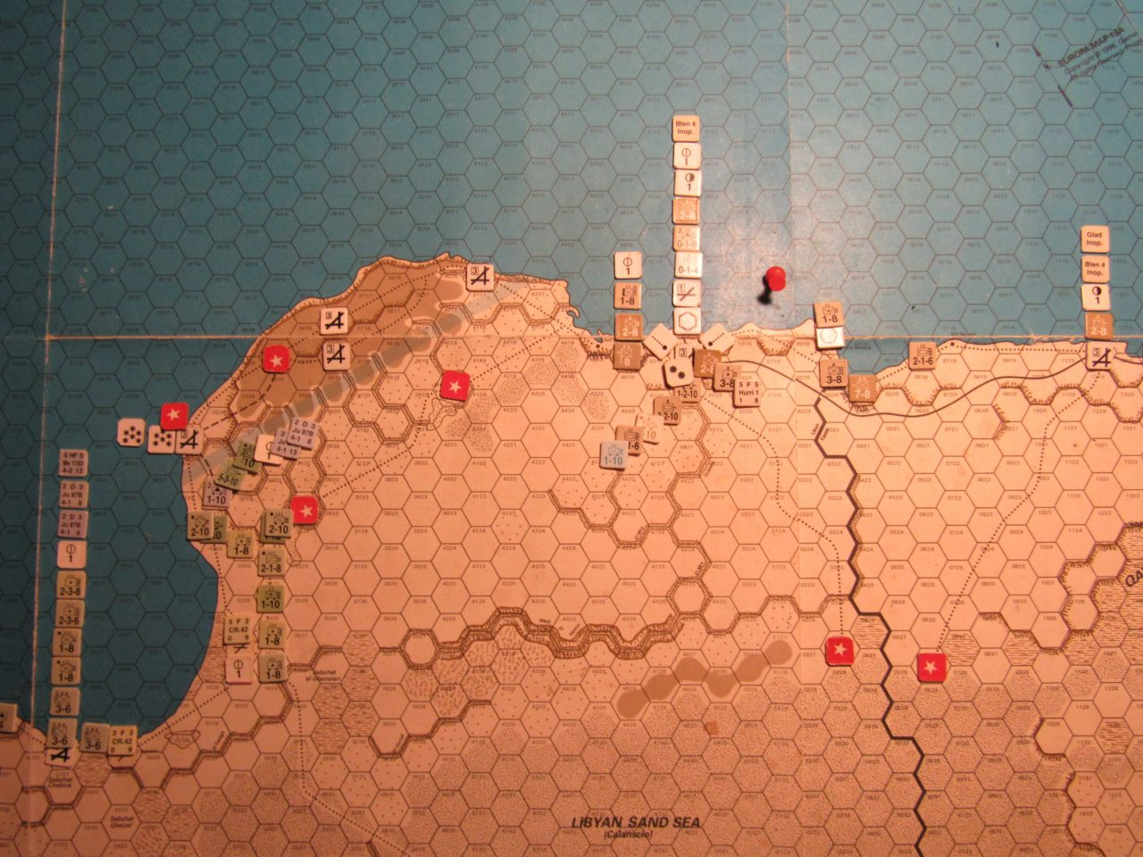 ME/ER-II Scenario: Apr I 41 Allied EOT dispositions; Eastern Libya and Western Egypt