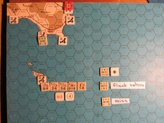 ME/ER-II Apr I 41 beginning of M. Phase air attack against Malta Status, prior to naval movement segment