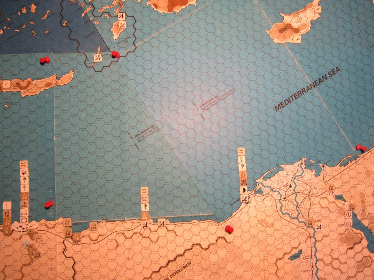 WW 1941 ME/ER-II/Crete Scenario Apr I 41 Apr I 41 Allied EOT dispositions: Eastern Libya & Egypt