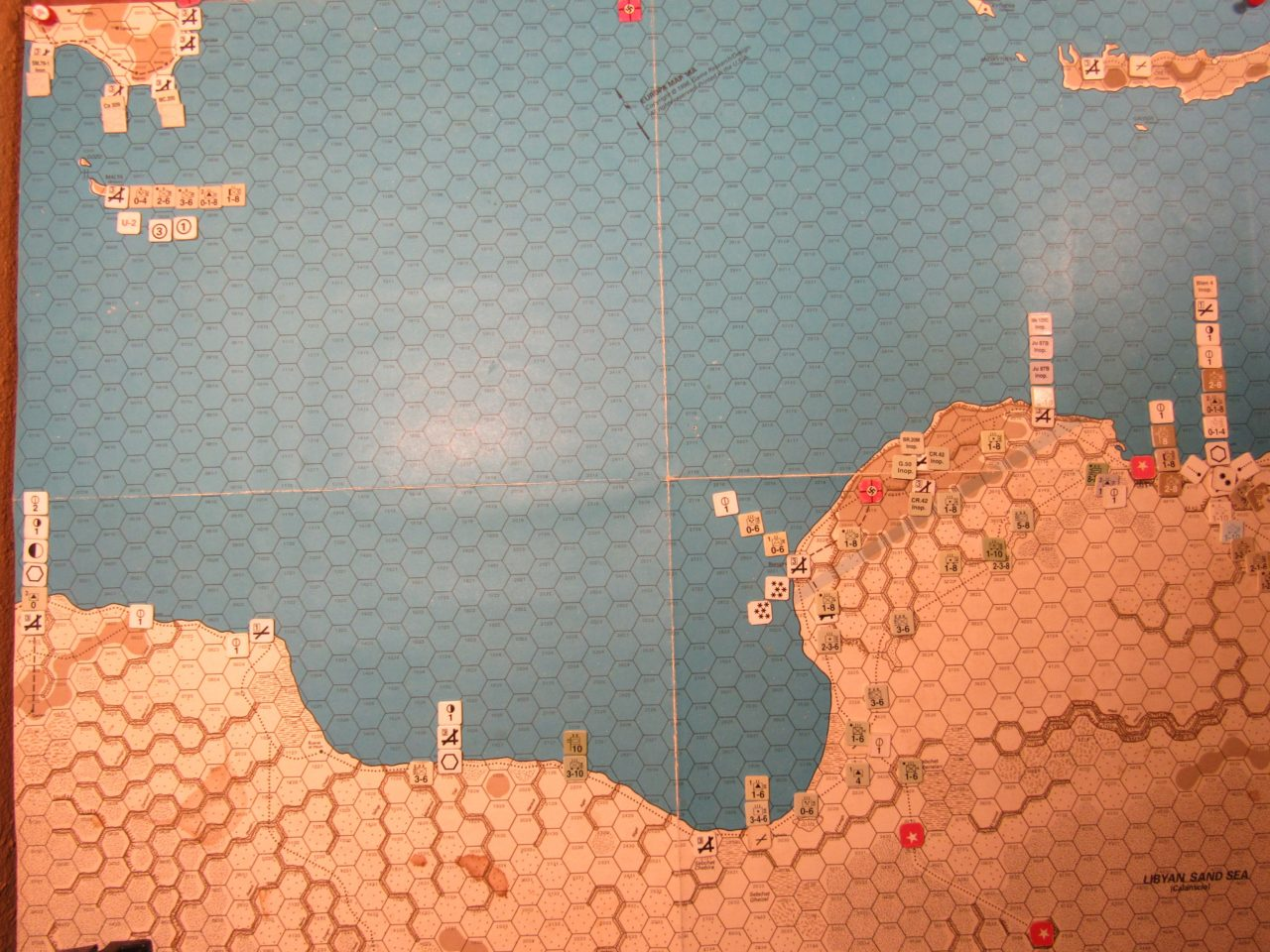 WW ME/ER-II/Crete Scenario Apr I 41 Axis EOT dispositions: Libya and Sicily