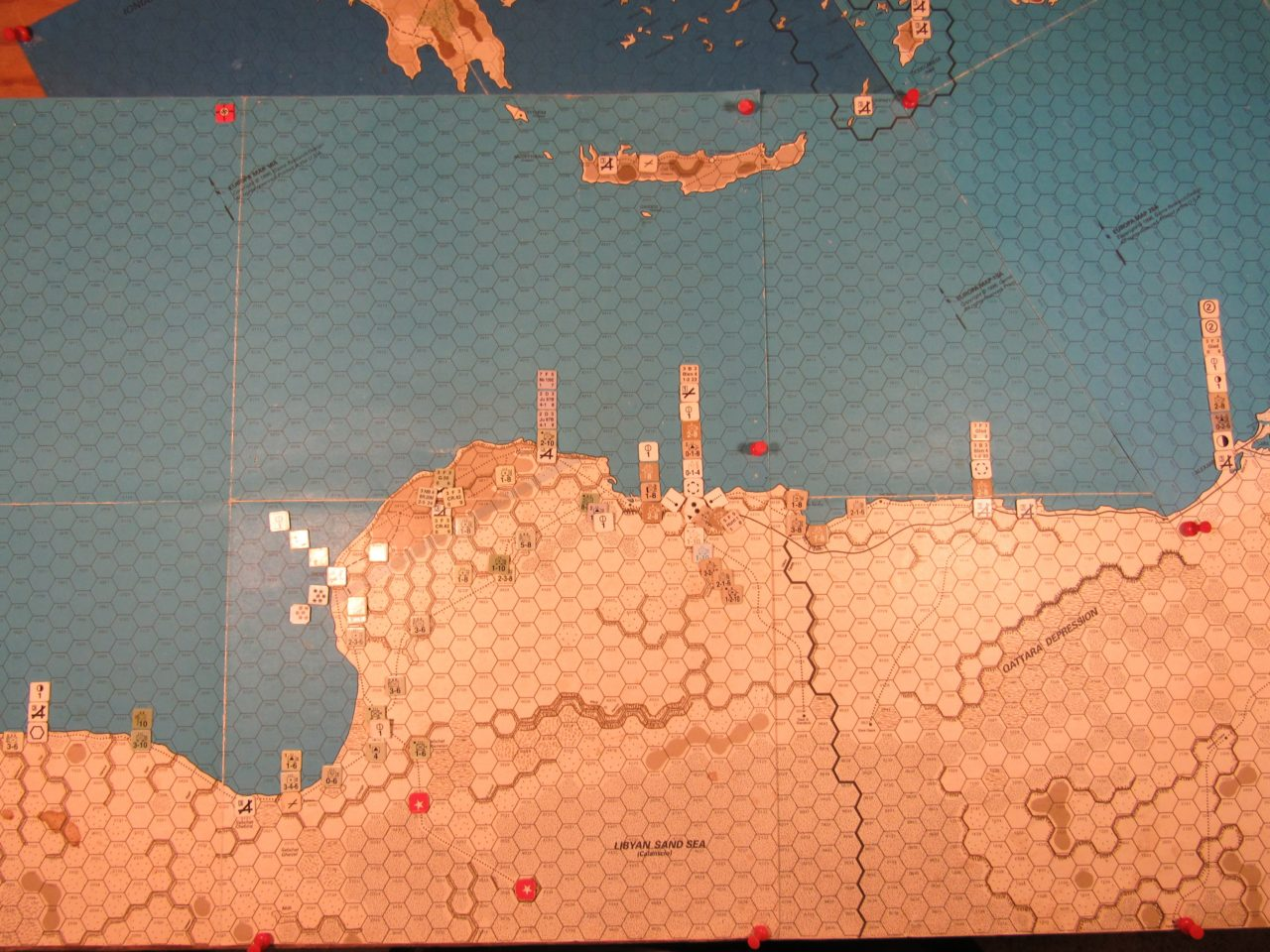 WW ME/ER-II/Crete Scenario Apr II 41 Allied turn, at the end of step 21 of the Initial Phase
