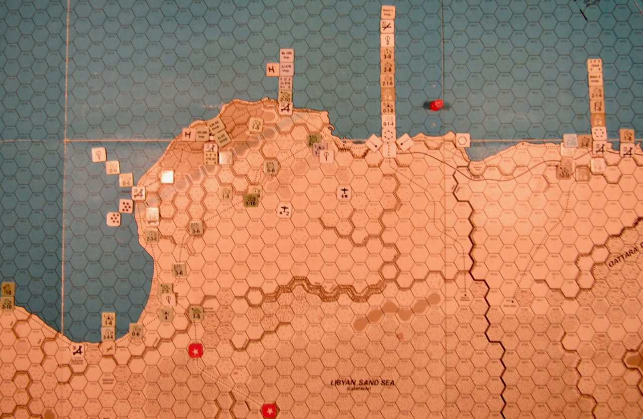 Apr II 41 Allied EOT dispositions: Western Desert