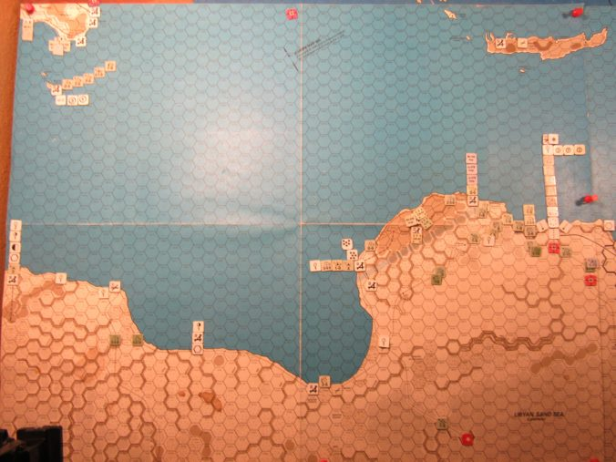 WW MW/ER-II/Crete Scenario Apr II 41 end of Movement Phase dispositions: Libya and Sicily