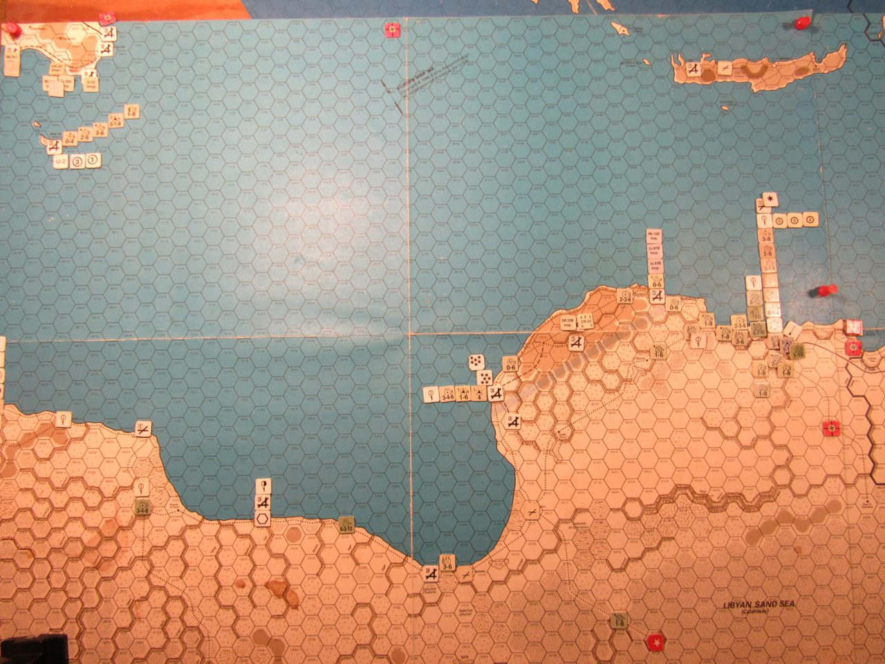 WW ME/ER-II/Crete Scenrio Apr II 41 Axis EOT dispositions: Libya and Sicily