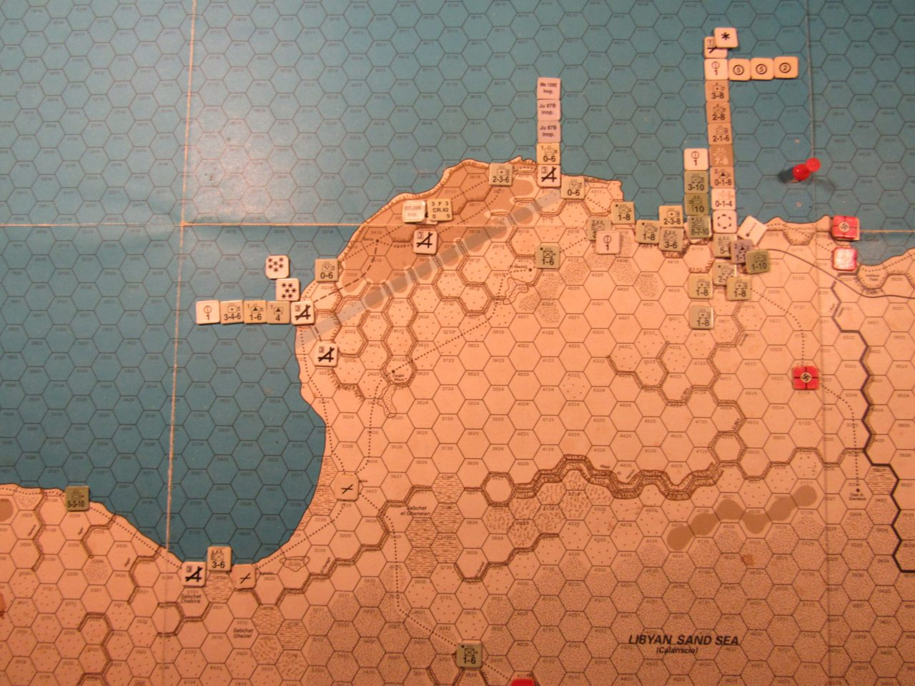 WW ME/ER-II/Crete Scenario Apr II 41 Axis EOT dispositions: eastern Libya detail