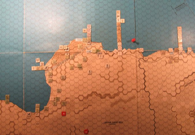 WW ME/ER-II/Crete Scenario Apr II 41 Allied end of Movement Phase dispositions: eastern Libya and western Egypt