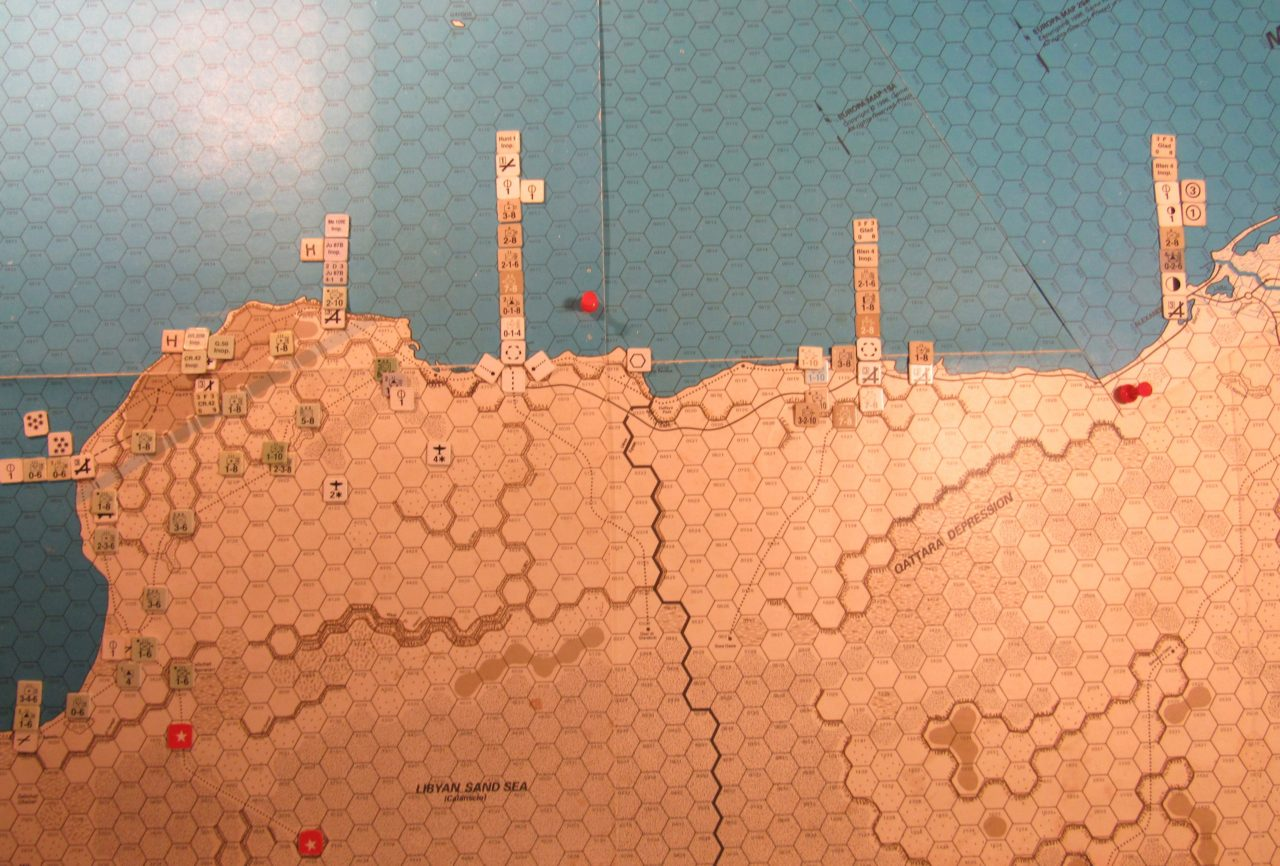 WW ME/ER-II/Crete Scenario Apr II 41 Allied EOT dispositions: eastern Libya and east and central Egypt region