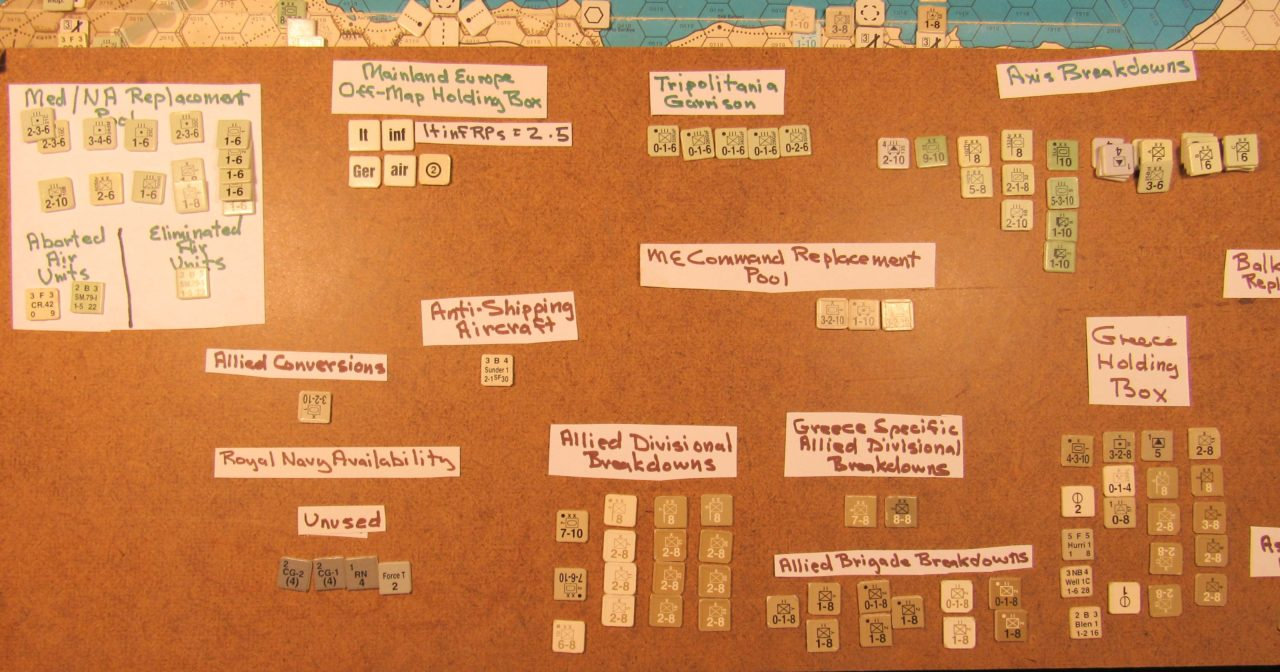 WW ME/ER-II/Crete Scenario Apr II 41 Allied EOT dispositions: off-map display detail