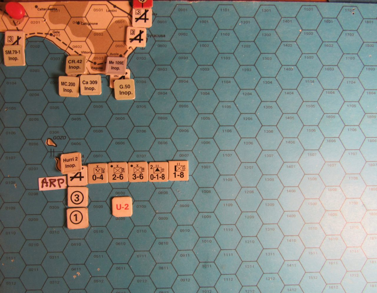 WW ME/ER-II/Crete Scenairo May I 41 Allied EOT dispositions: Malta and Sicily