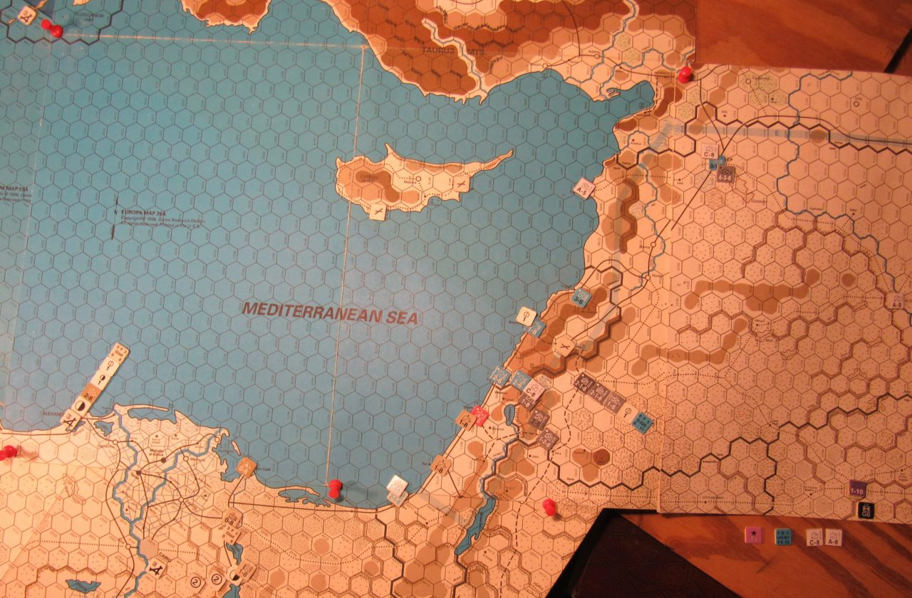 WW ME/ER-II/Crete Scenario May I 41 Allied EOT dispositions: eastern Egypt, Palestine, and western Iraq