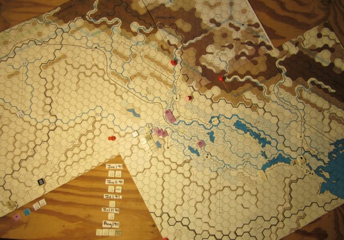 WW ME/ER-II/Crete Scenario Apr II 41 end of Movement Phase dispositions: Iraq