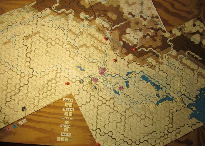WW ME/ER-II/Crete Scenario Apr II 41 Allied EOT dispositions: Iraq and far eastern Trans-Jordan