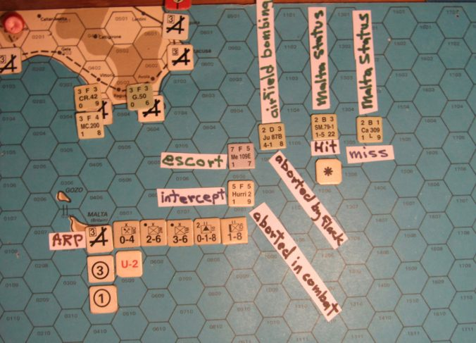 WW ME/ER-II/Crete Scenario May I 41 Axis beginning of the Movement Phase air raid over Valletta: detail