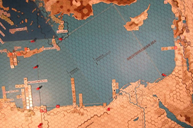 WW ME/ER-II/Crete Scenario May II 41 Allied end of Movement Phase dispositions: eastern Libya, Egypt, Greece, and Palestine