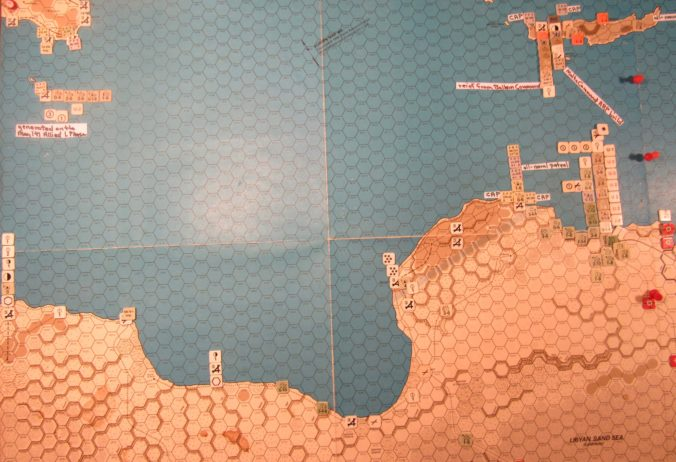 WW ME/ER-II/Crete Scenario May II 41 Allied end of step 22 of the Initial Phase dispositions: Libya, Sicily, Malta, and Crete