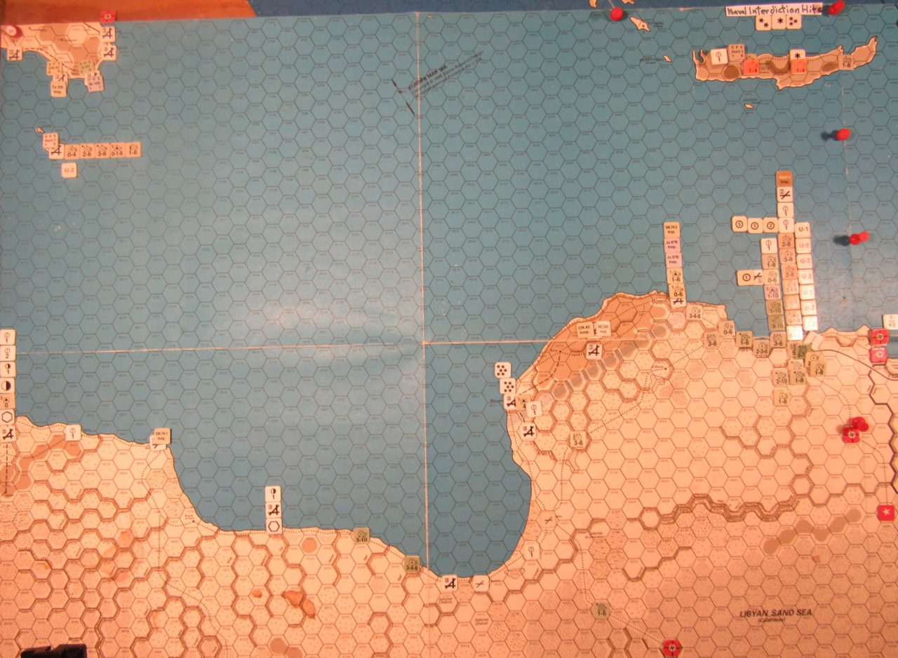 WW 1941 ME/ER-II/Crete Scenario May II 41 Allied EOT dispositions: Libya, Sicily, Malta, and Crete