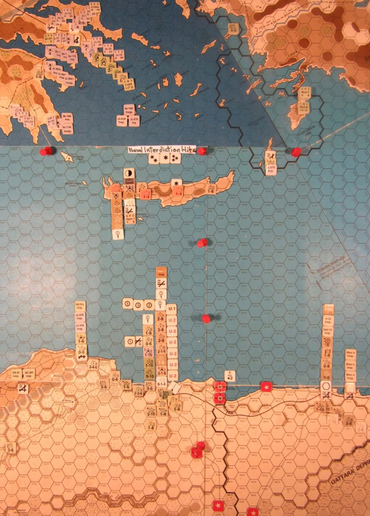 WW 1941 ME/ER-II/Crete Scenario May II 41 Allied EOT dispositions: eastern Libya, western Egypt, mainland Greece, Crete, and the Aegean