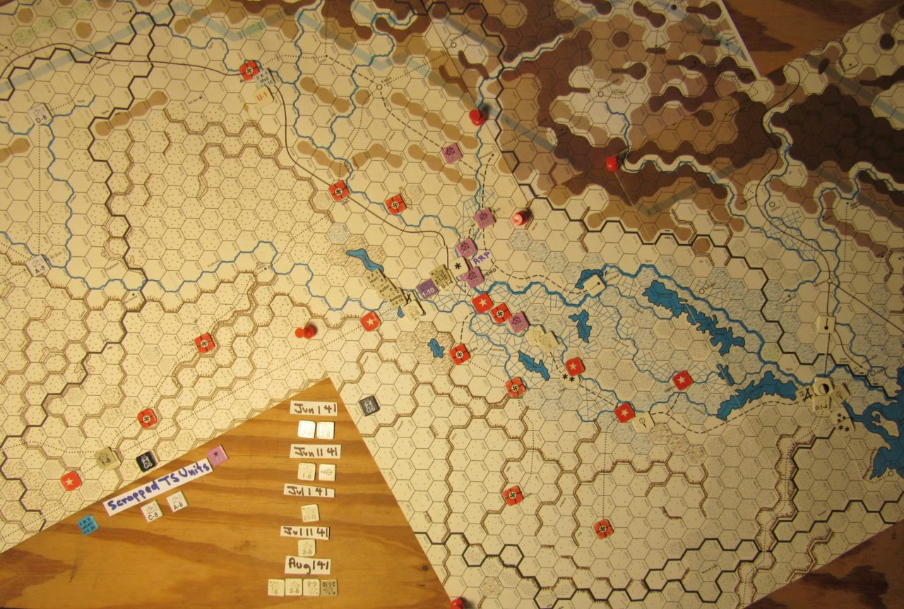 WW 1941 ME/ER-II/Crete Scenario May II 41 Axis just before step of of the Initial Phase dispositions: just before the Variable Iraqi Coup Collapse dice roll; Fawzi al Qawukji action die roll (at step 2) was a 4: Fawzi does not change mode and moves randomly during the upcoming Movement Phase.