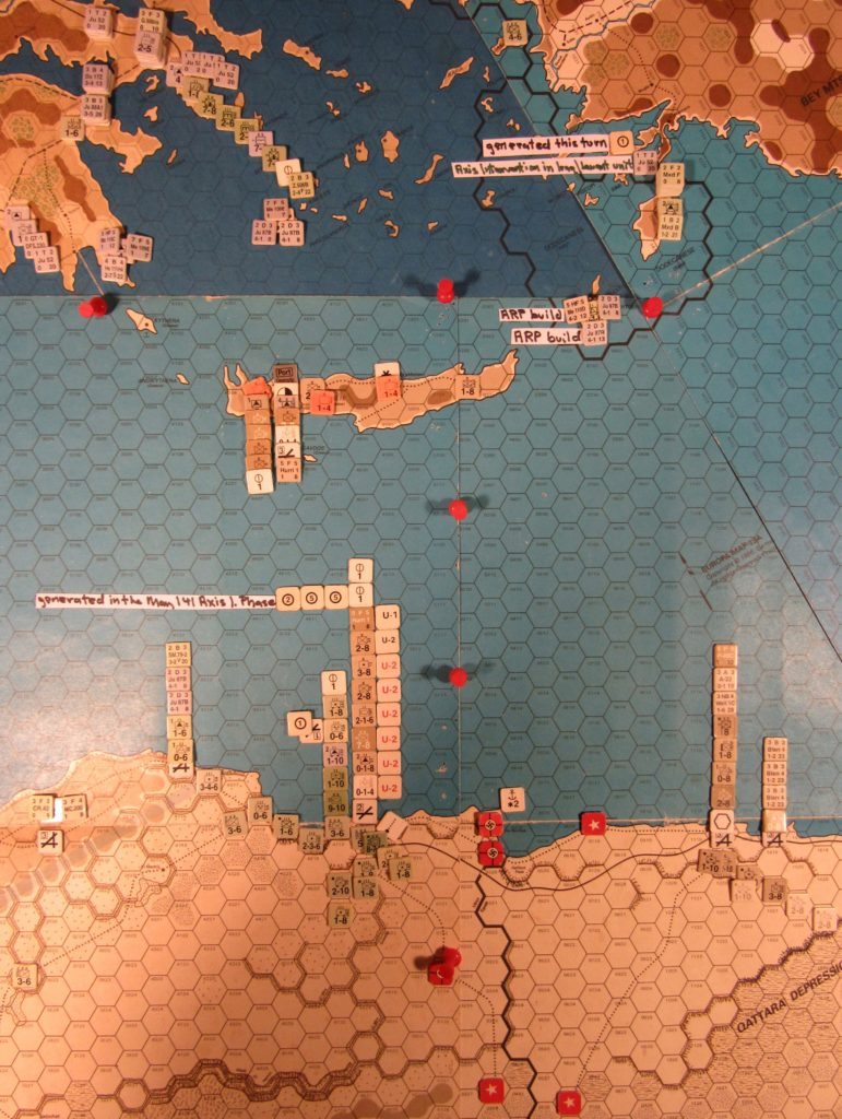 May II 41 Axis end of step 21 of the Initial Phase dispositions