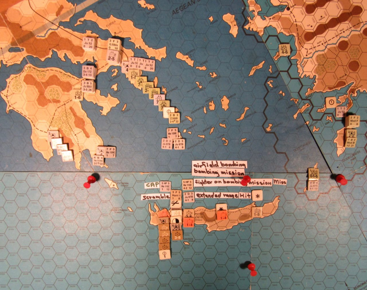 WW 1941 ME/ER-II/Crete Scenario May II 41 Axis beginning of the Movement Phase
