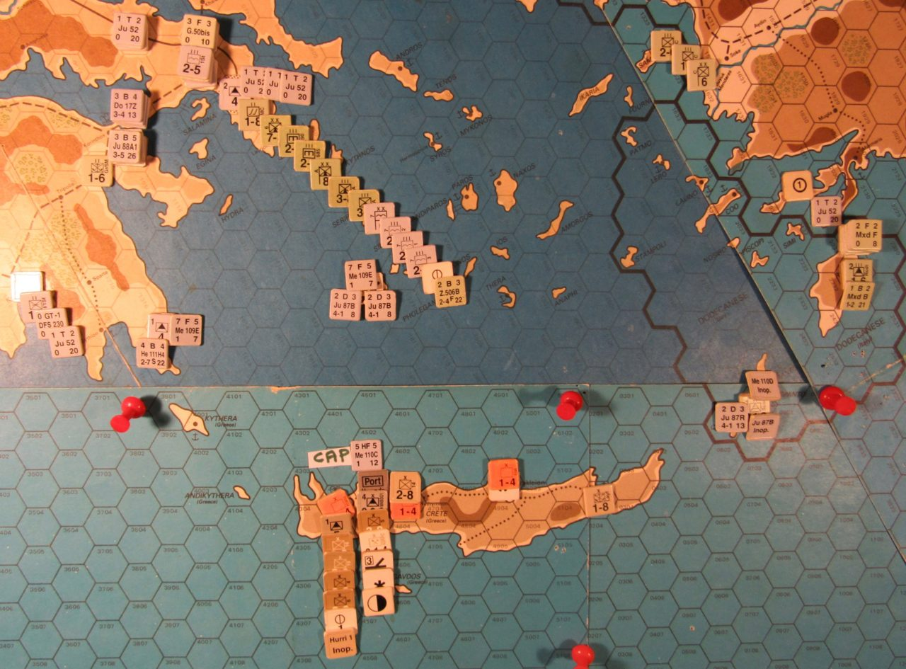 WW 1941 ME/ER-II/Crete Scenario May II 41 Axis early Movement Phase dispositions