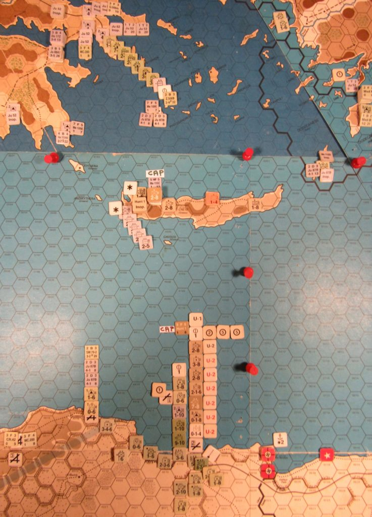WW 1941 ME/ER-II/Crete Scenario May II 41 Axis near the end of the naval movement step