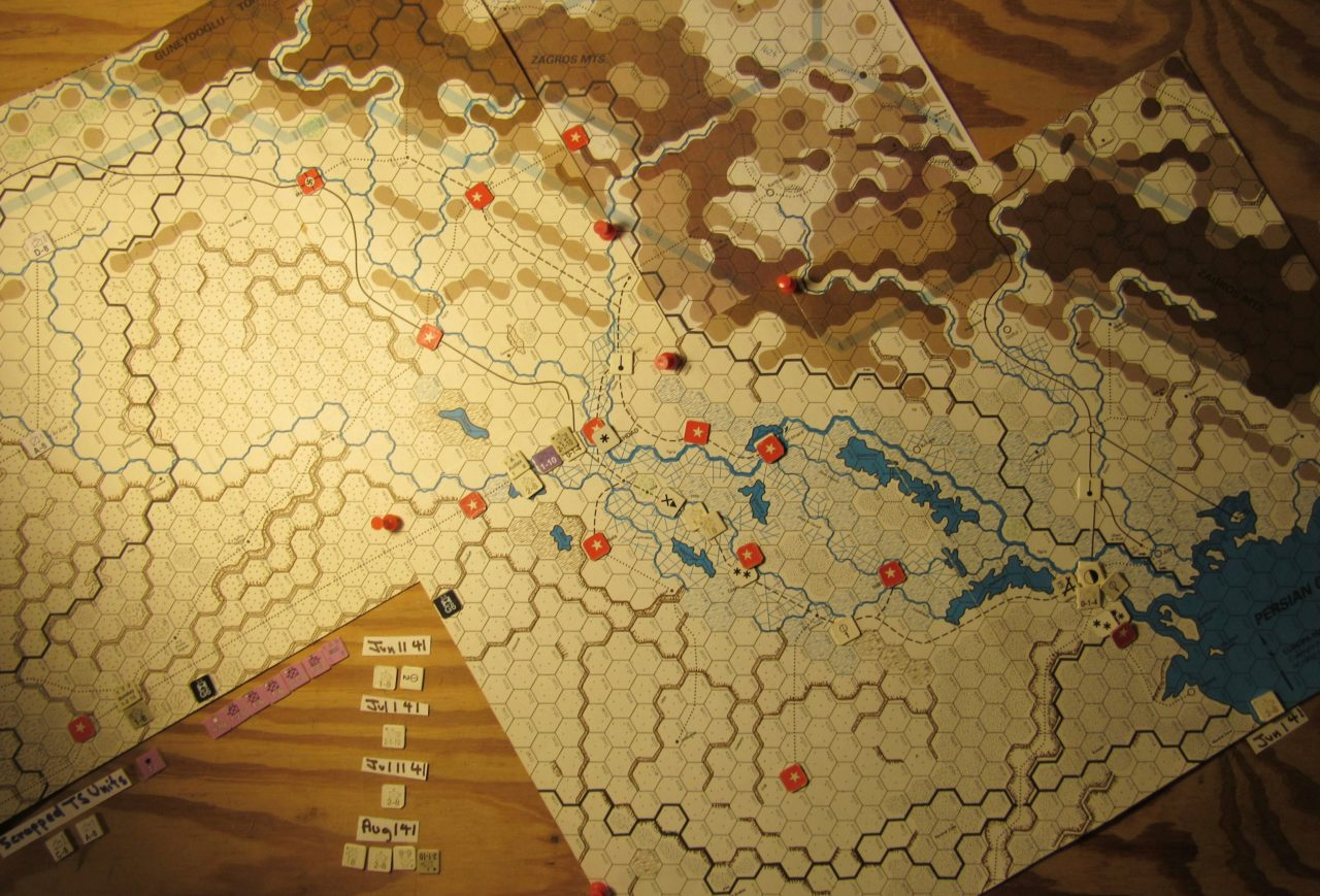 WW 1941 ME/ER-II/Crete Scenario Jun I 41 Allied end of the I. Phase dispositons: Iraq