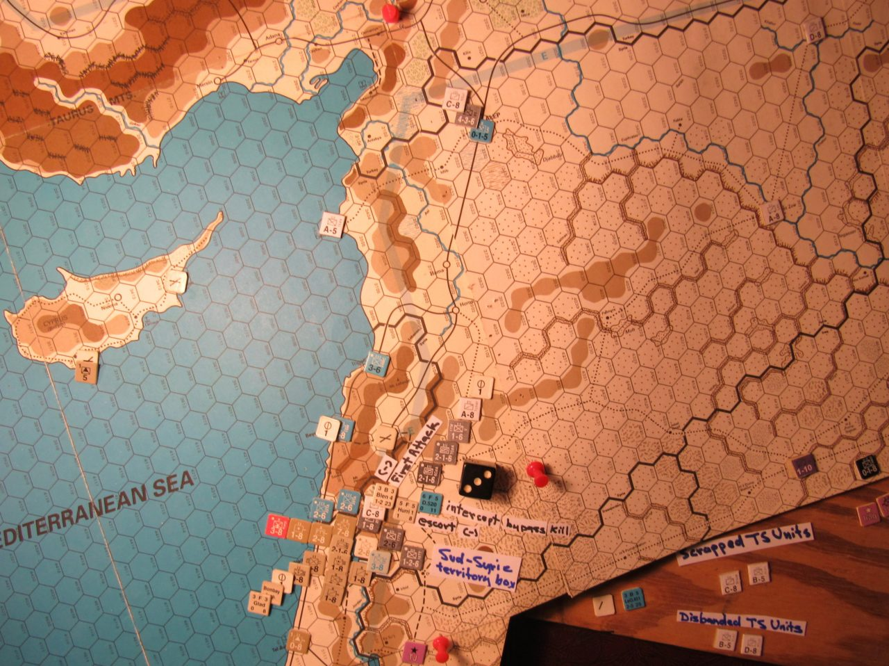 Jun I 41 Allied Combat Phase action: First Attack in the French Levant