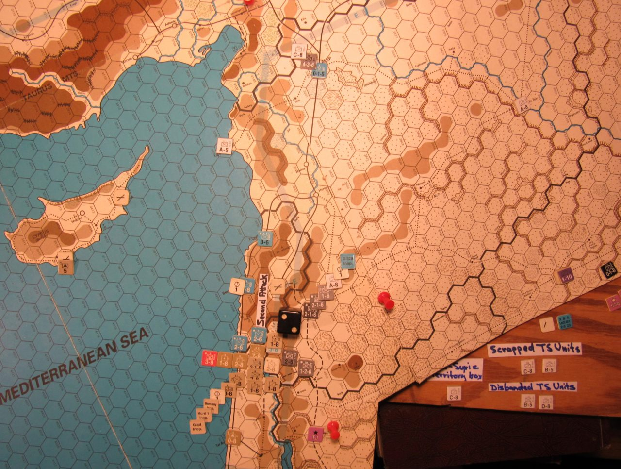 Jun I 41 Allied Combat Phase action: the Second Attack in the Vichy French Levant