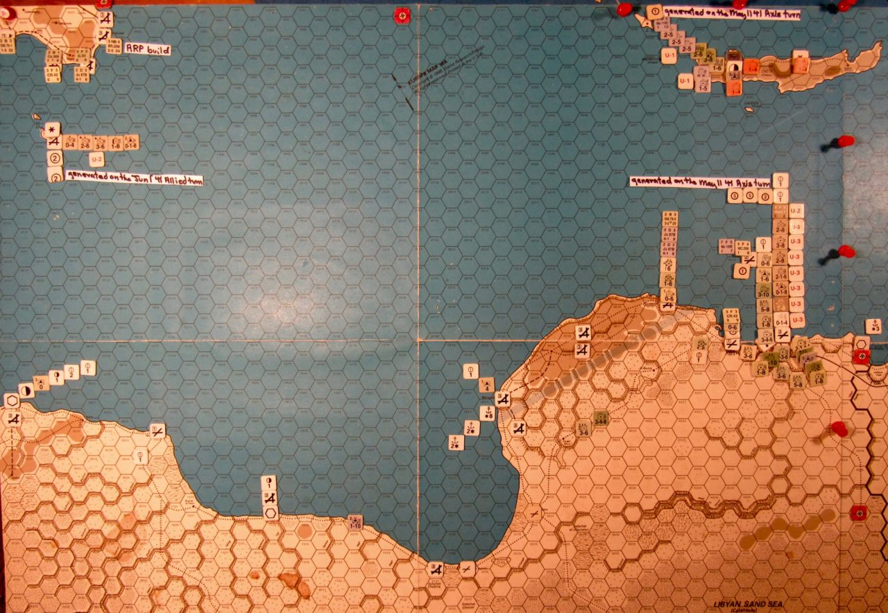 Jun I 41 Axis end of Initial Phase dispositions: Libya, Sicily, Malta, and Crete