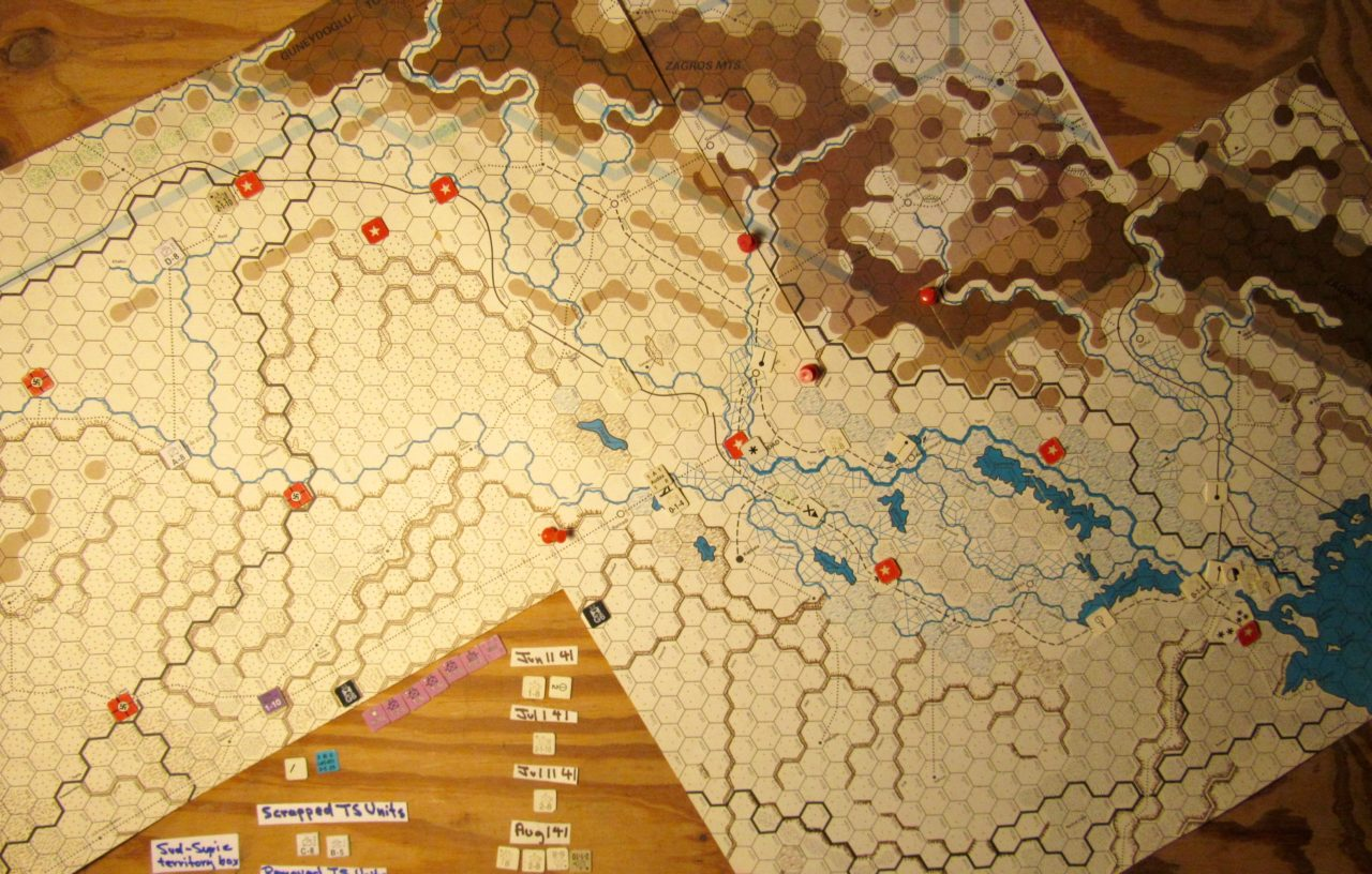 Jun I 41 Axis end of the Initial Phase dispositions: pro-Allied Iraq and Allied invaded Vichy French Levant