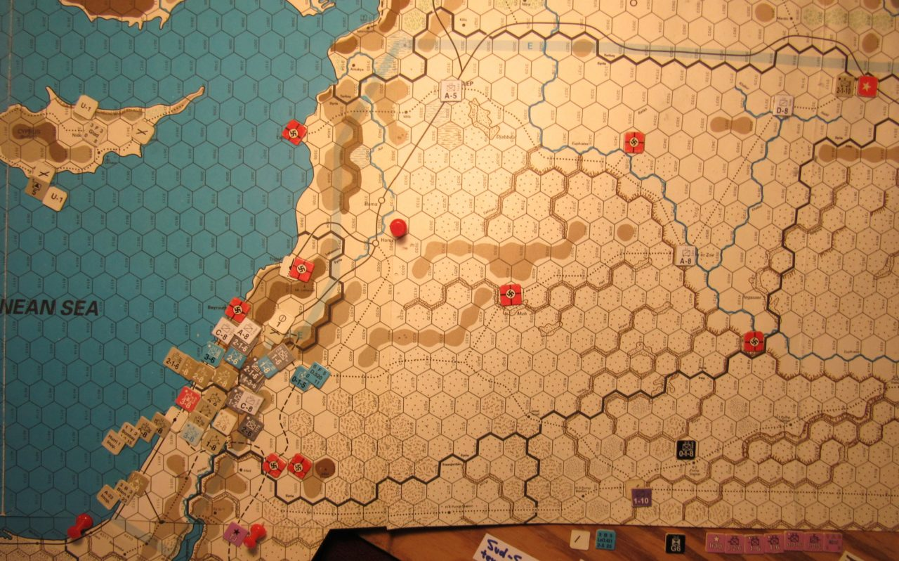 Jun I 41 Axis end of the Combat Phase dispositions: Palestine, Cyprus, the Vichy