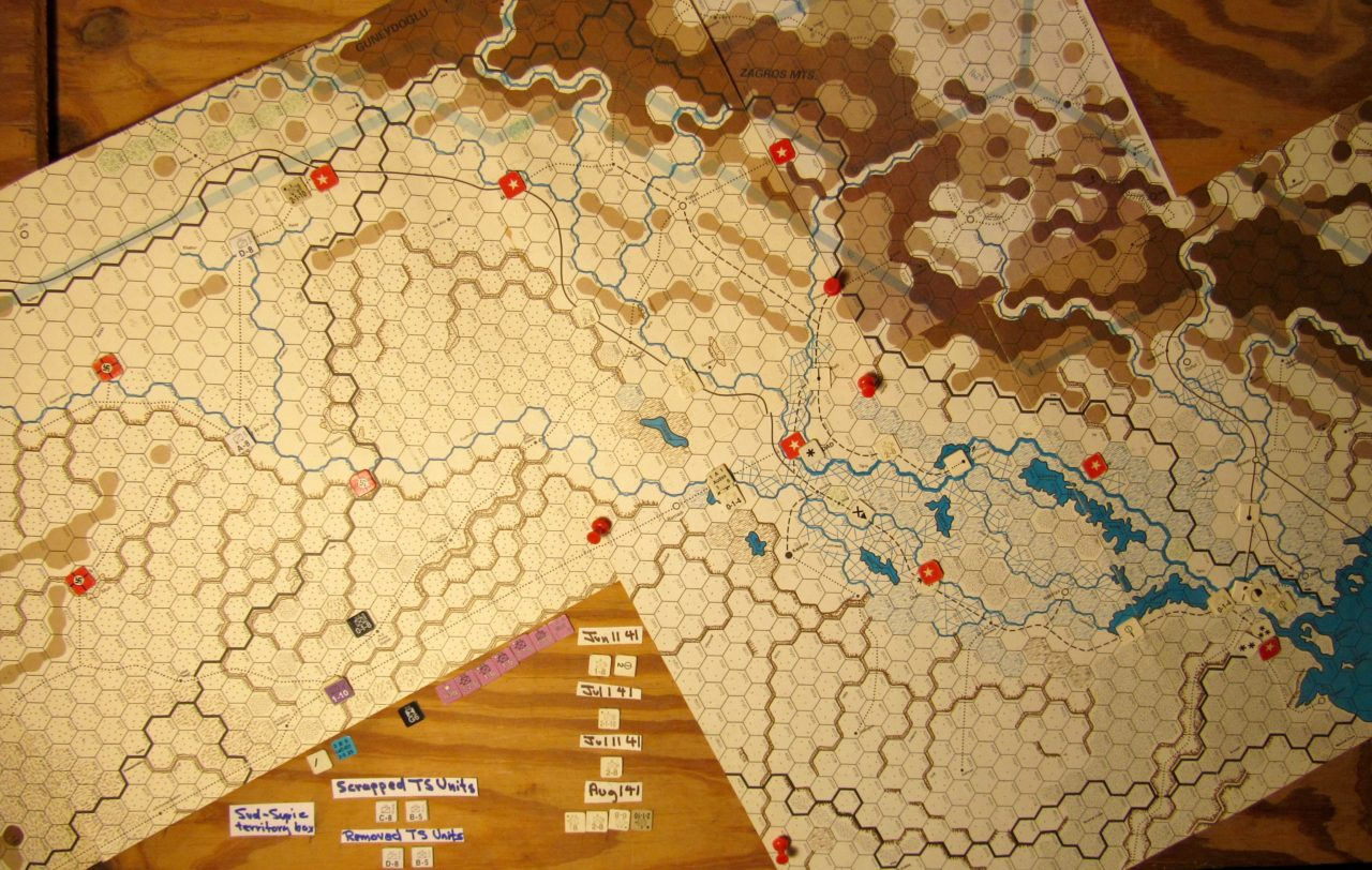 Jun II 41 Allied end of the I. Phase dispositions: Iraq and eastern Vichy French Levant.