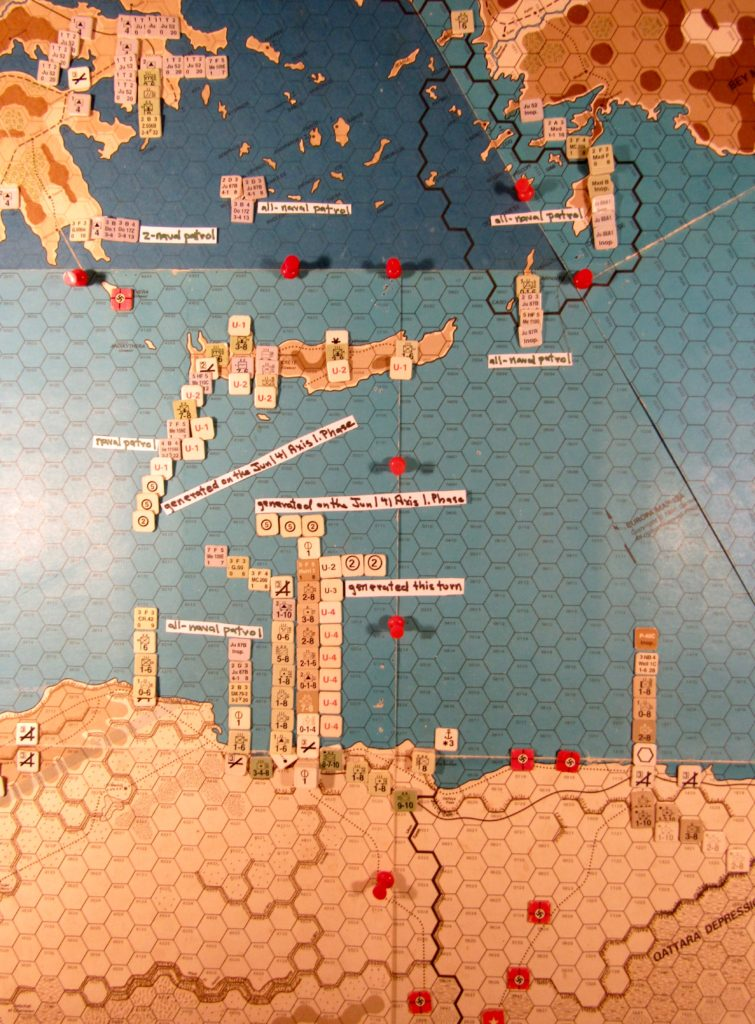 Jun II 41 Allied end of the naval movement step: Central Mediterranean