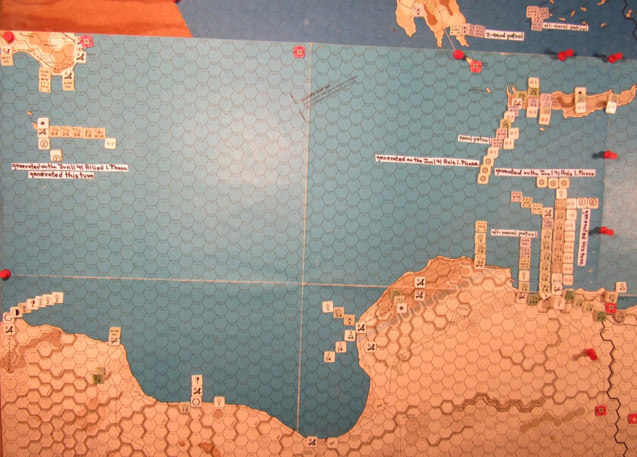 Jun II 41 Allied end of the Movement Phase dispositions: Central Mediterranean
