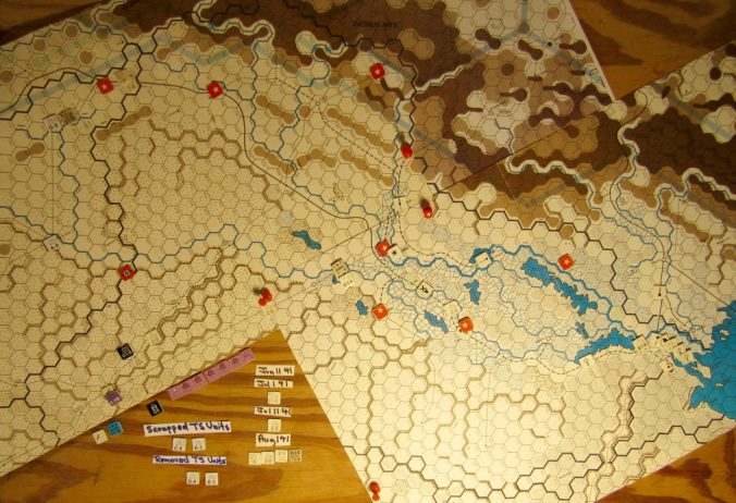 Jun II 41 Allied end of the Movement Phase dispositions: Iraq and eastern Vichy French Levent