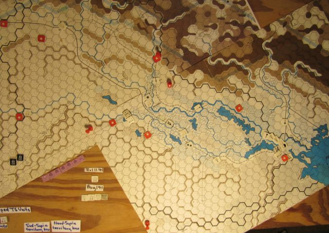 Jul I 41 Allied end of the Movement Phase dispositions: Iraq