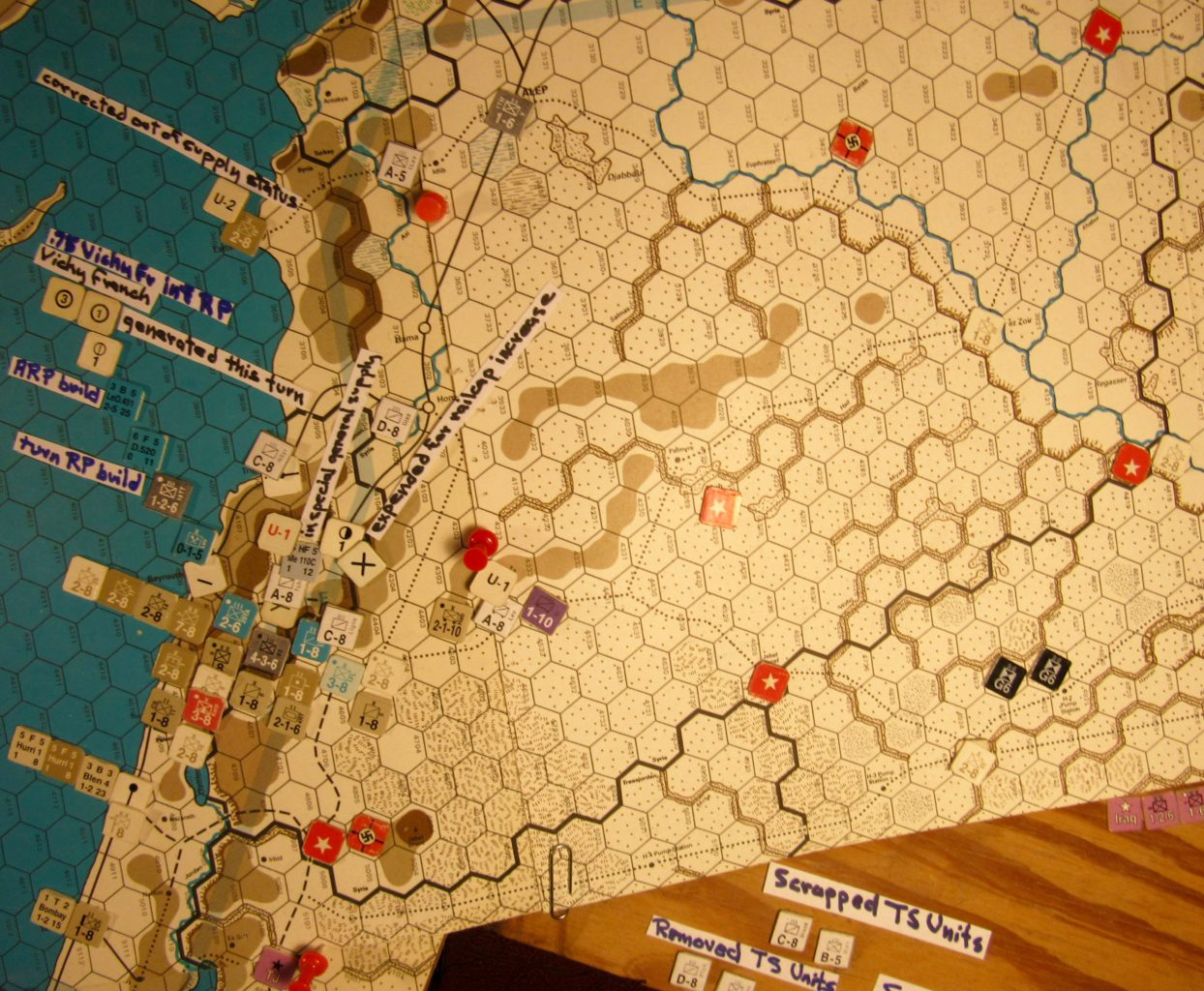 Jul I 41 Axis end of the Initial Phase dispositions: French Levante