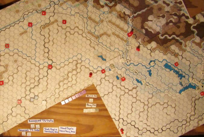 Jul I 41 Axis EOT dispositions: eastern Vichy French Levant and Iraq