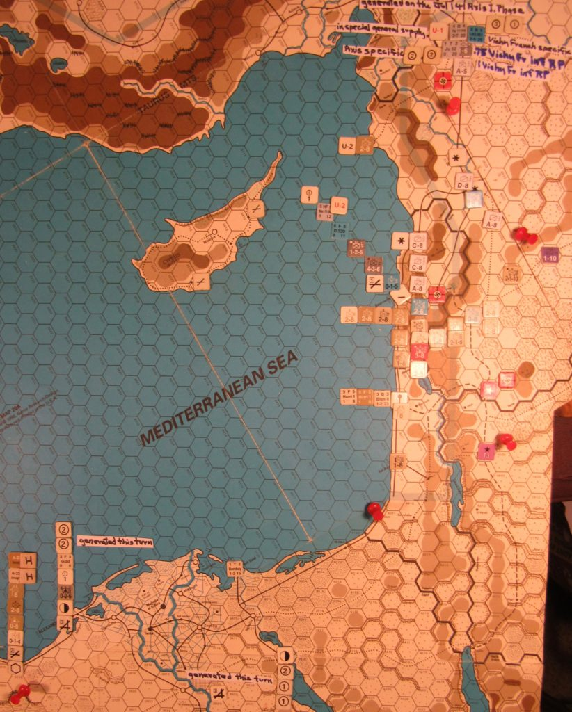 Jul II 41 Allied end of the I. Phase dispositions Eastern Mediterranan.